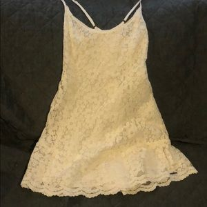 Abercrombie & Fitch small white lace dress